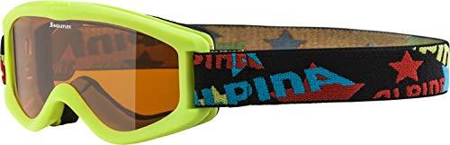 ALPINA CARVY 2.0 Skibrille, Kinder, lime, one...