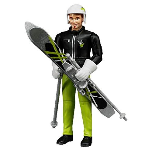 Bruder 60040 - Skifahrer mit Skiern,...