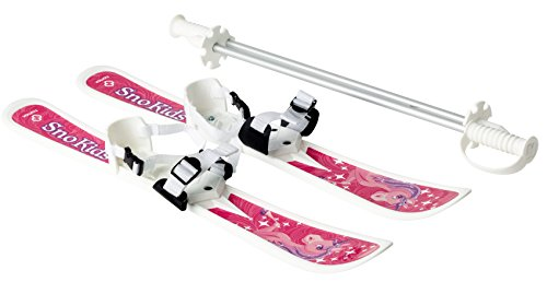 HAMAX Kinder Ski erste Lernski mit Stöcken...