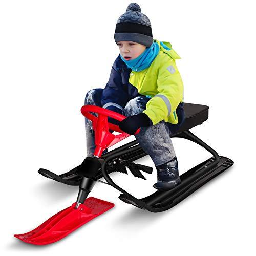 Qdreclod Schlitten Snowracer mit 2 Fußbremse...